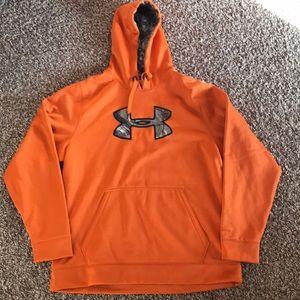 Men's Under Armour Orange camo hoodie XL